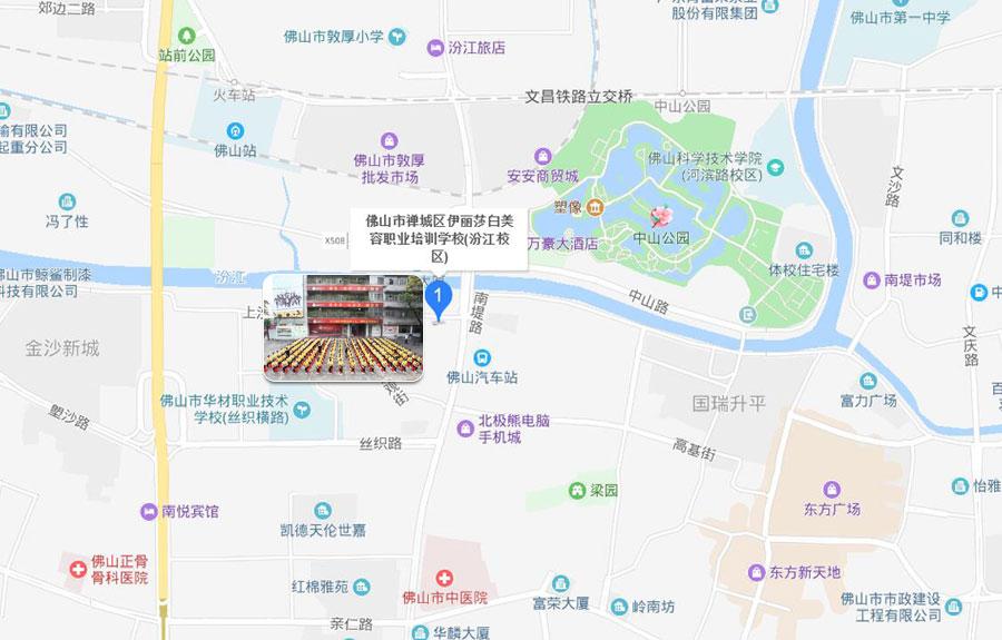 伊丽莎白美容学校汾江校区地图位置
