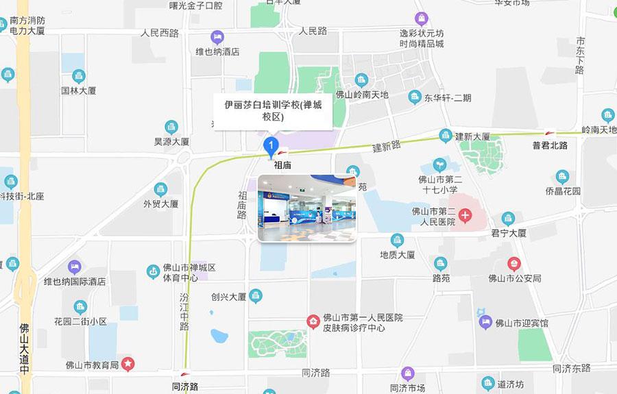 伊丽莎白培训学校禅城校区地图位置