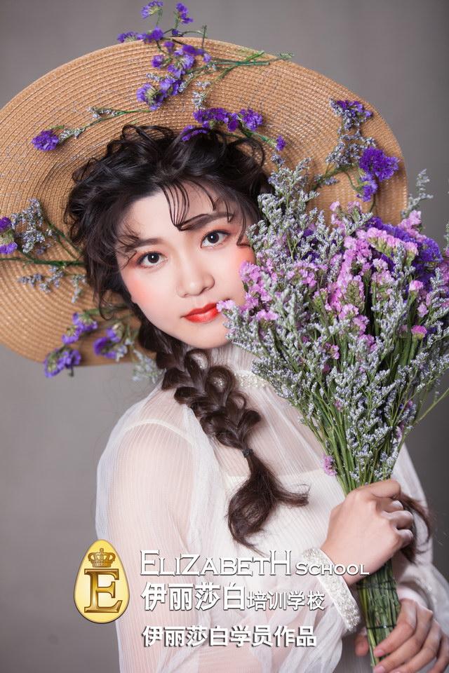 学员:陈春香,创意新娘妆