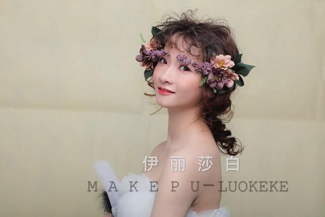 鲜花新娘创意造型