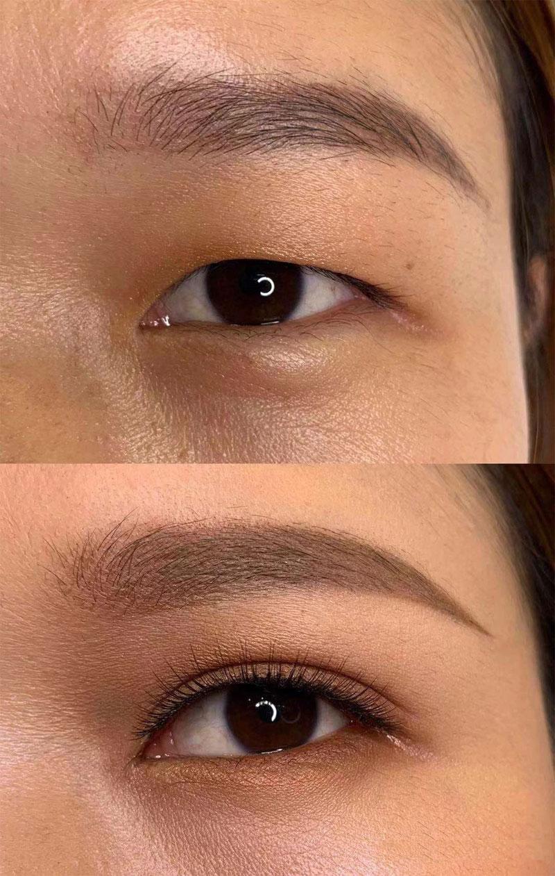 鱼骨轻推化妆技术效果对比