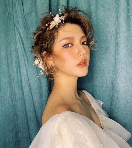 化妆课程作品模特演示