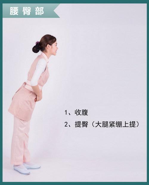 伊丽汇美容师仪容仪表标准规范要求:腰臀部要求