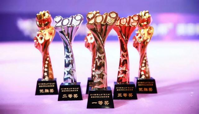 奖杯:一等奖、二等奖、三等奖、优胜奖