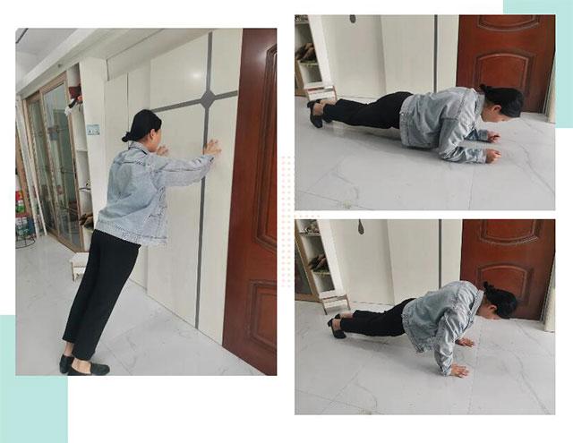 练习压墙、半蹲、指撑这些练习力量的基本功
