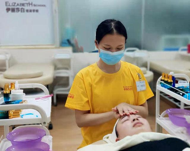 佛山禅城伊丽莎白美容化妆美甲培训图片